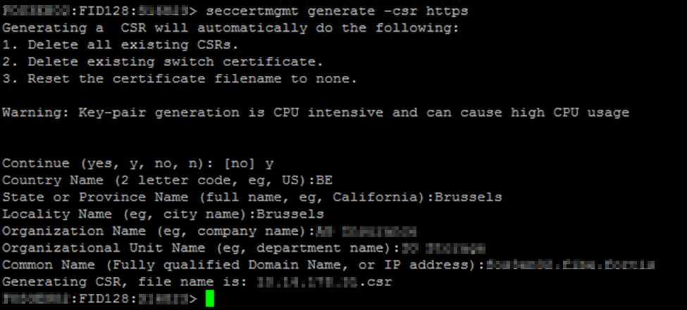 Generate the Certificate Signing Request